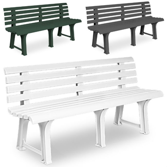 Plastic Garden Bench - 4ft 7""